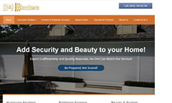 Website Design Clients B and H Shutters