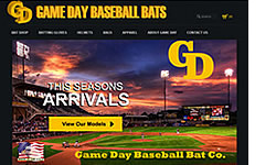 Website Design Clients Game Day Baseball Bats
