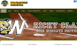 Website Design Clients Palm Beach Select Baseball Club website design Jupiter